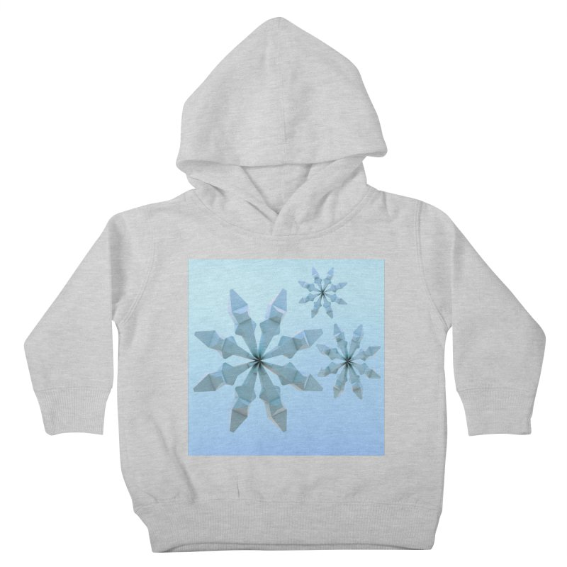 Snowflakes (blue) Kids Toddler Pullover Hoody by Me&My3D