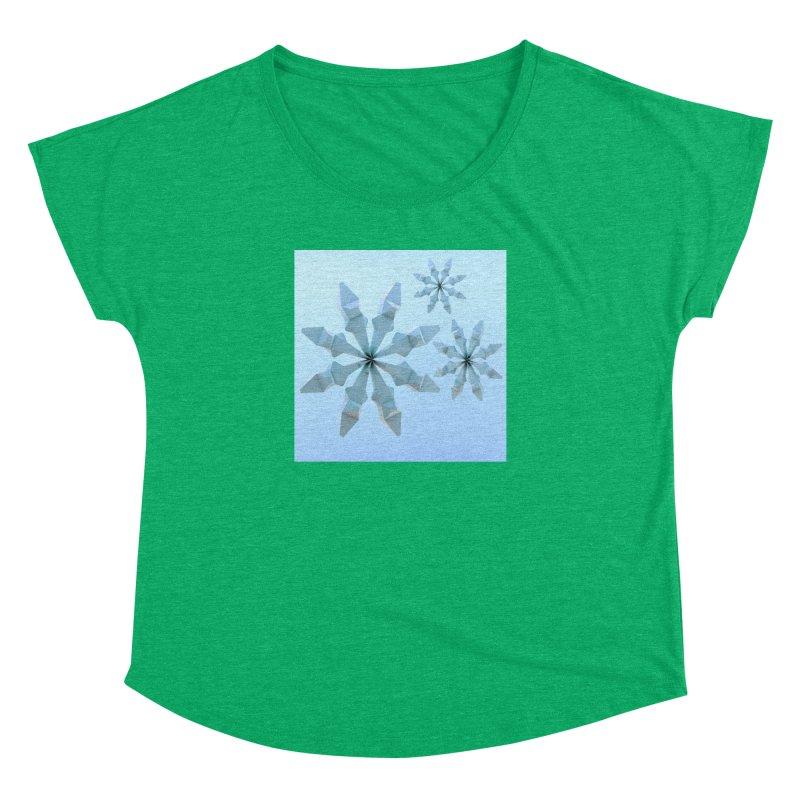 Snowflakes (blue) Women's Dolman Scoop Neck by Me&My3D