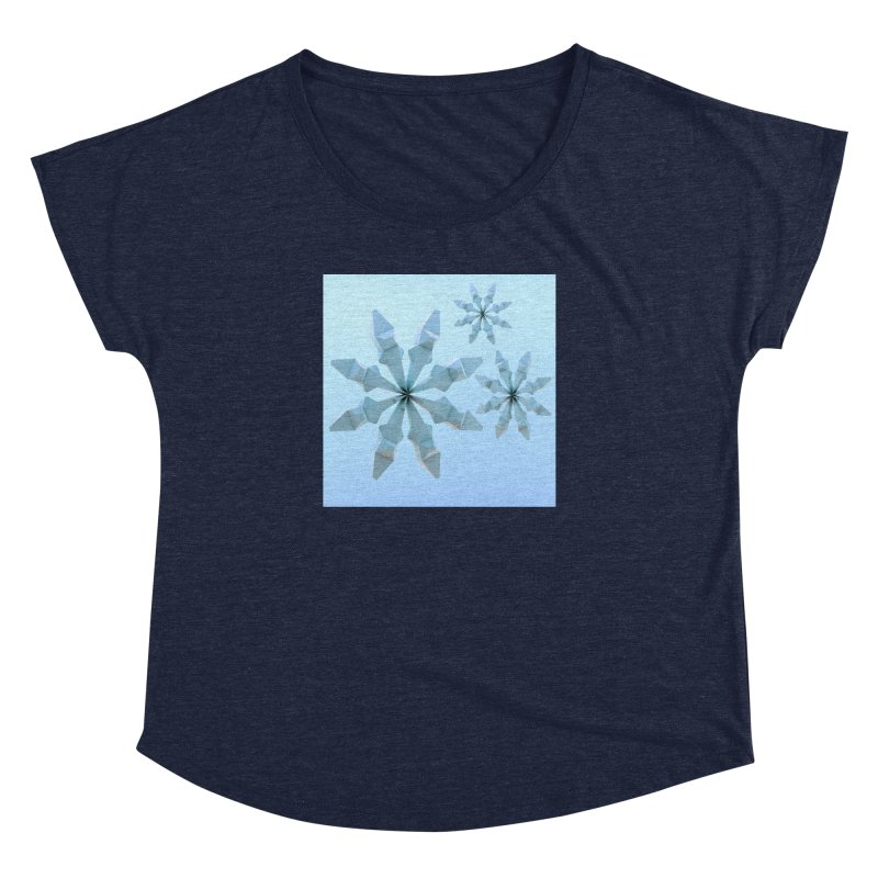 Snowflakes (blue) Women's Dolman Scoop Neck by Me&My3D