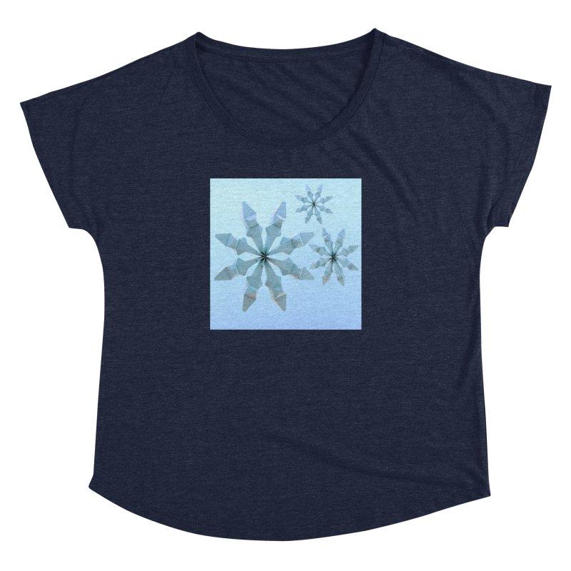 Snowflakes (blue) Women's Dolman by Me&My3D