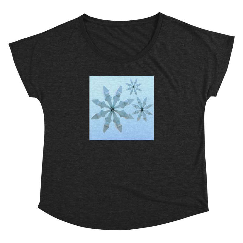 Snowflakes (blue) Women's Dolman by Me&My3D