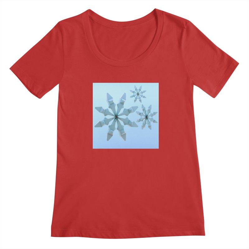 Snowflakes (blue) Women's Scoopneck by Me&My3D