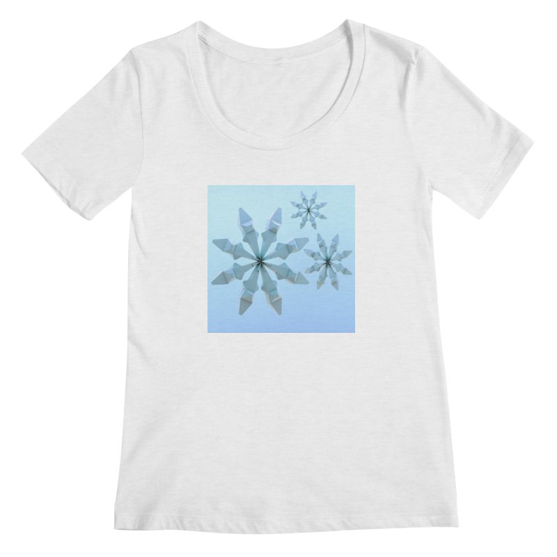 Snowflakes (blue) Women's Regular Scoop Neck by Me&My3D