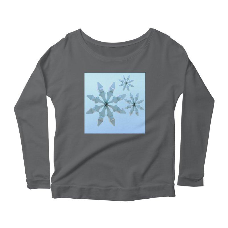 Snowflakes (blue) Women's Longsleeve Scoopneck  by Me&My3D