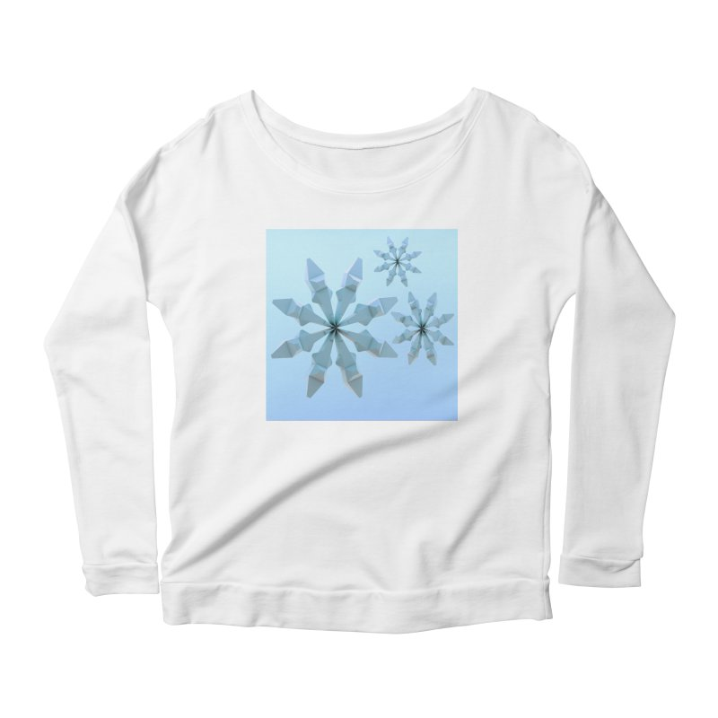 Snowflakes (blue) Women's Scoop Neck Longsleeve T-Shirt by Me&My3D