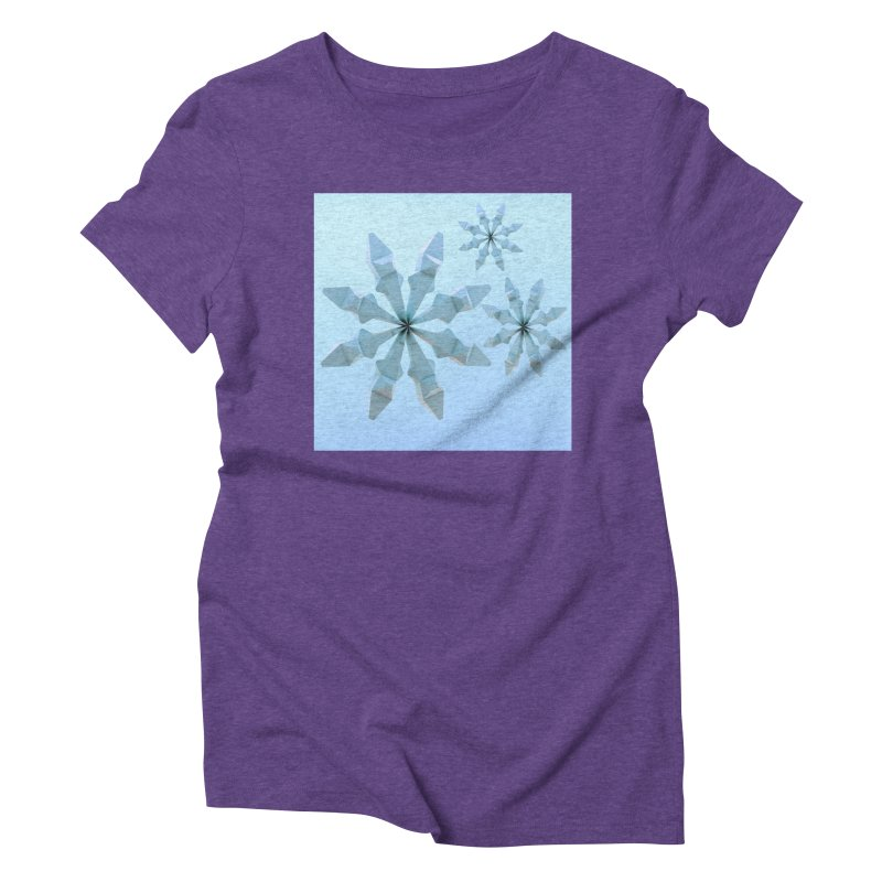 Snowflakes (blue) Women's Triblend T-Shirt by Me&My3D