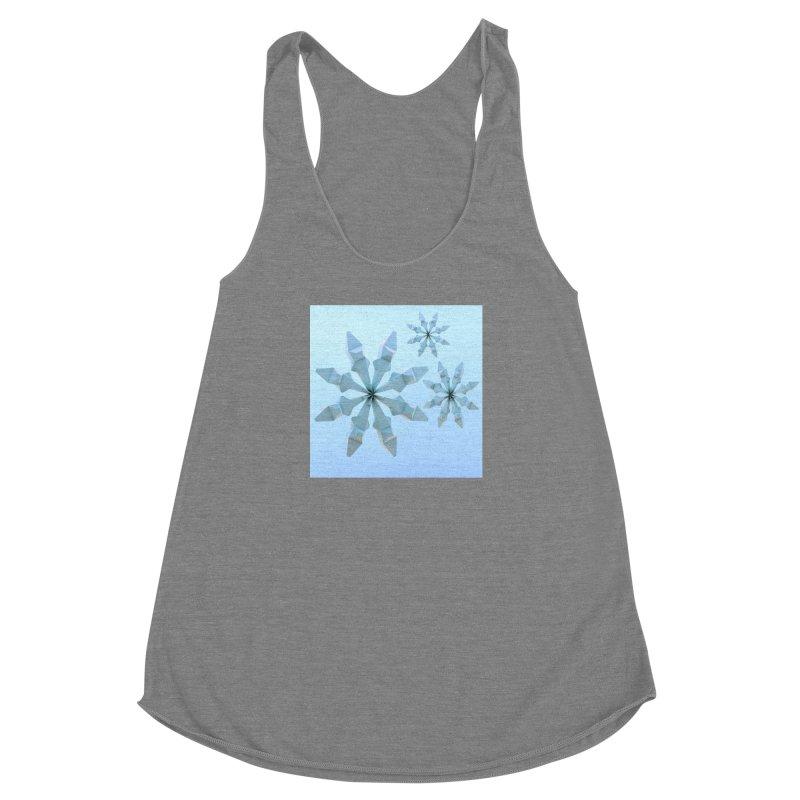Snowflakes (blue) Women's Tank by Me&My3D