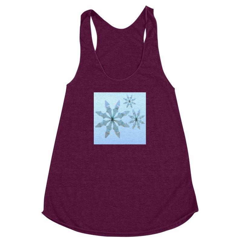 Snowflakes (blue) Women's Racerback Triblend Tank by Me&My3D