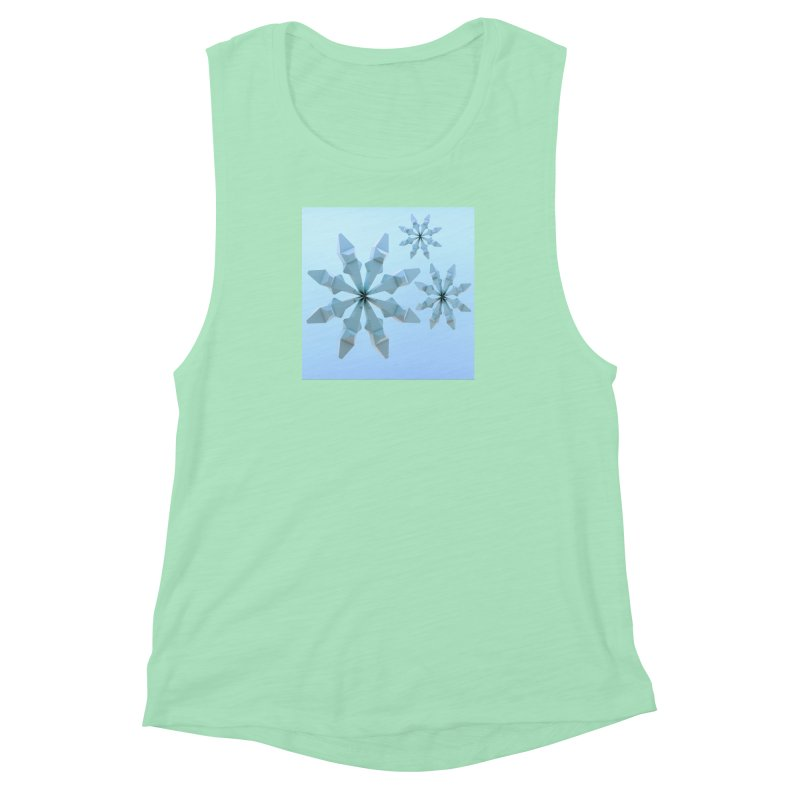Snowflakes (blue) Women's Muscle Tank by Me&My3D