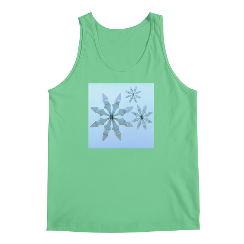 Snowflakes (blue) Men's Tank by Me&My3D
