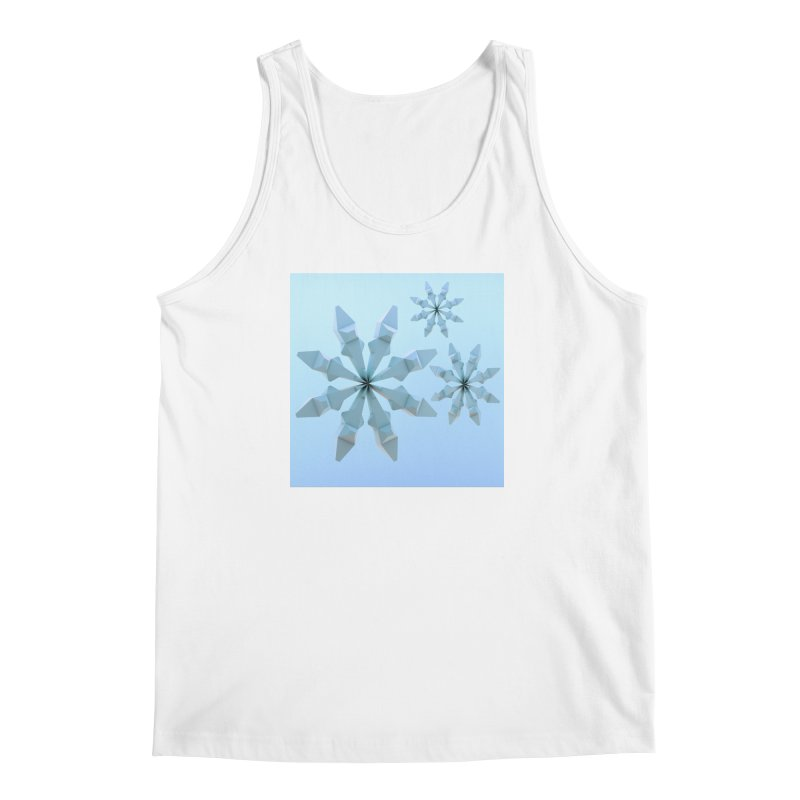 Snowflakes (blue) Men's Regular Tank by Me&My3D