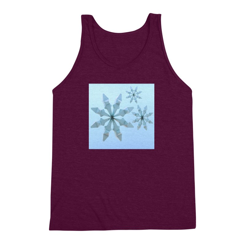 Snowflakes (blue) Men's Triblend Tank by Me&My3D