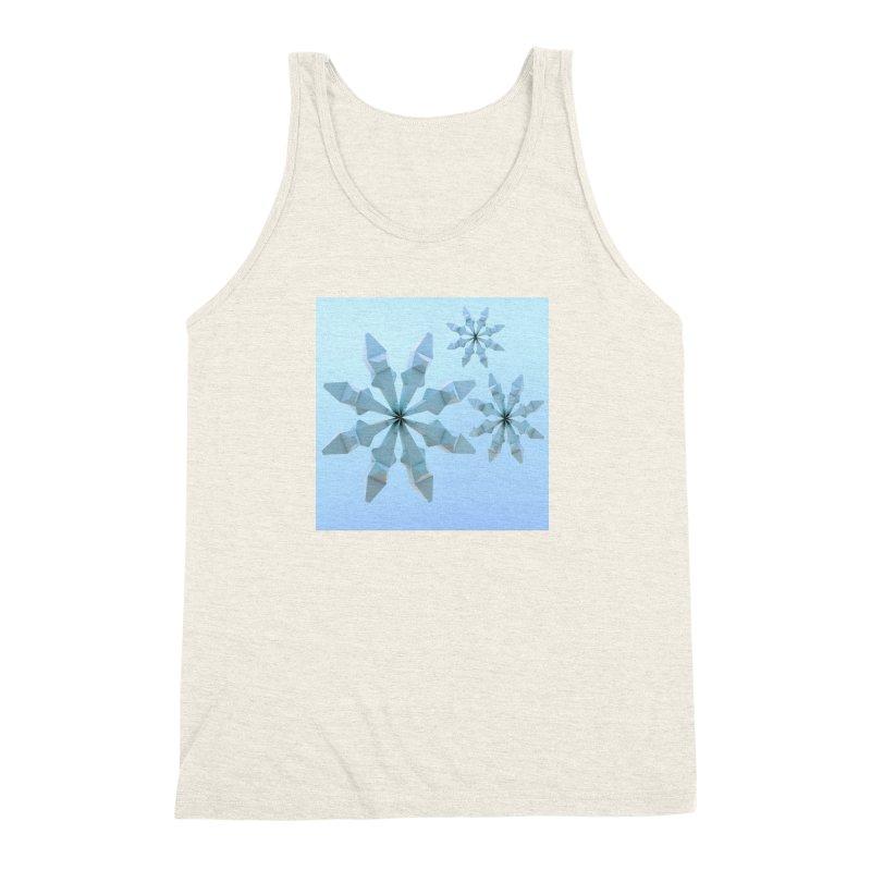 Snowflakes (blue) Men's Triblend Tank by Me&My3D