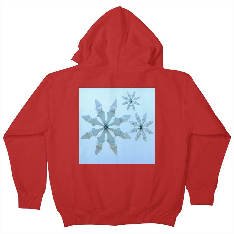 Snowflakes (blue) Kids Zip-Up Hoody by Me&My3D
