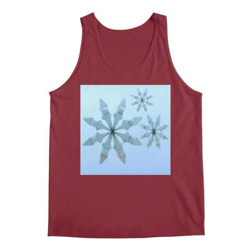 Snowflakes (blue) Men's Regular Tank by Me&My3D