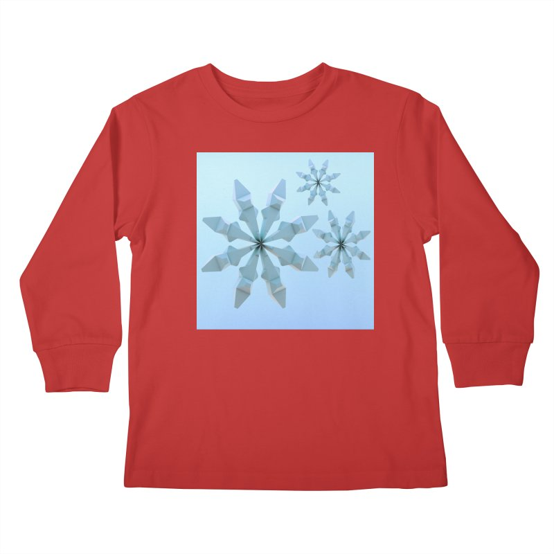 Snowflakes (blue) Kids Longsleeve T-Shirt by Me&My3D