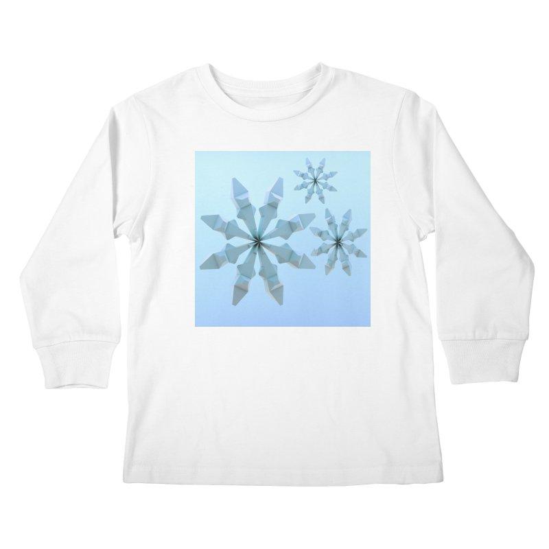Snowflakes (blue) Kids Longsleeve T-Shirt by Me&My3D