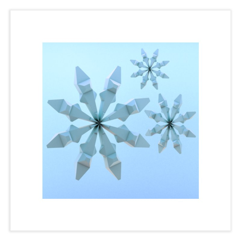 Snowflakes (blue) Home Fine Art Print by Me&My3D