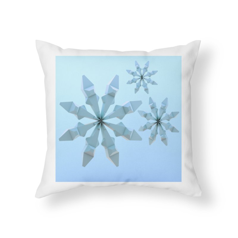 Snowflakes (blue) Home Throw Pillow by Me&My3D