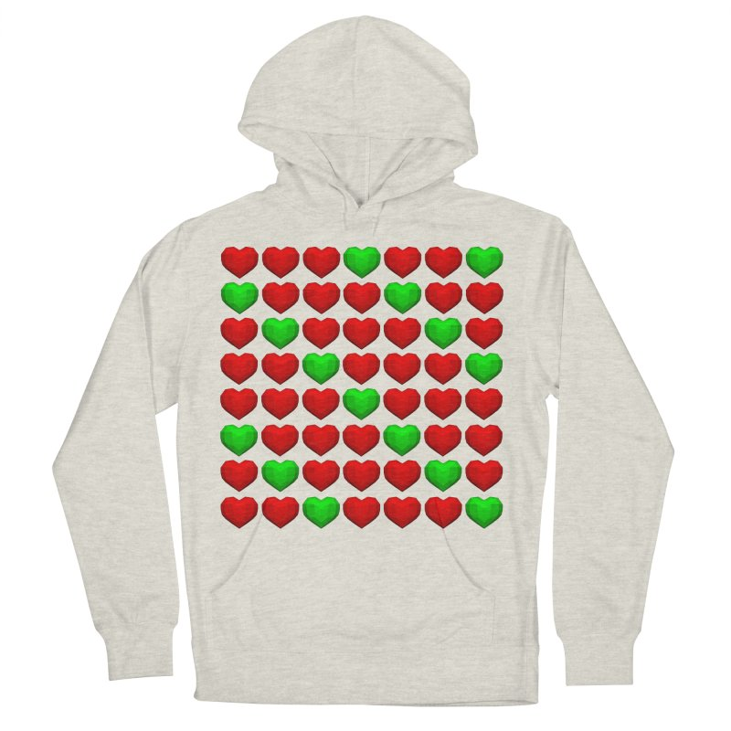 Lowpoly Christmasy Hearts Women's French Terry Pullover Hoody by Me&My3D