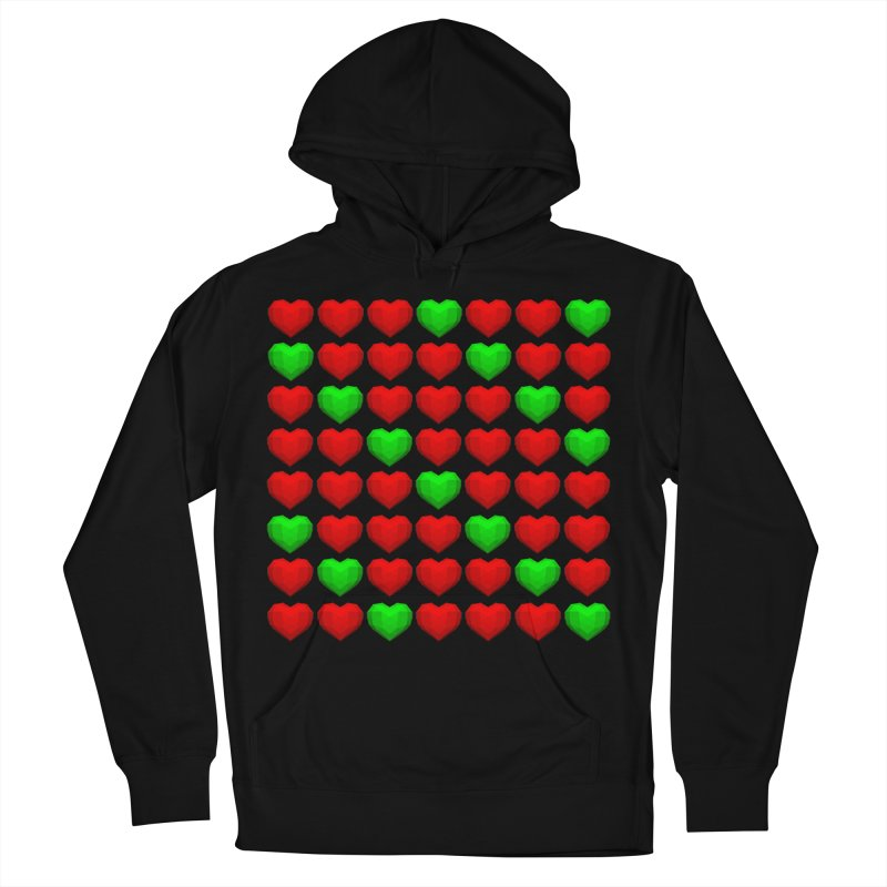Lowpoly Christmasy Hearts Women's Pullover Hoody by Me&My3D
