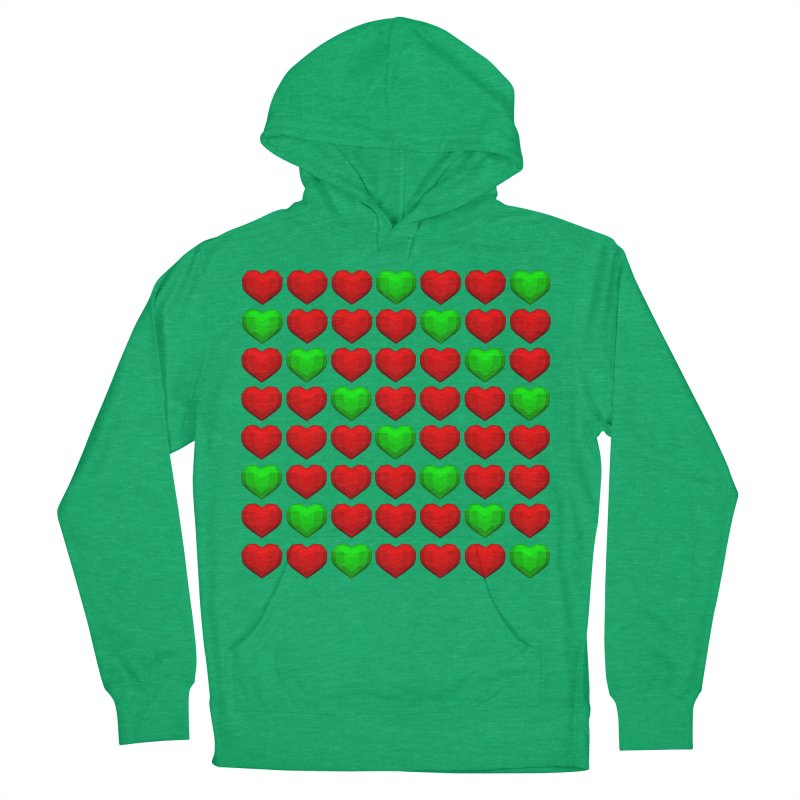 Lowpoly Christmasy Hearts Men's French Terry Pullover Hoody by Me&My3D