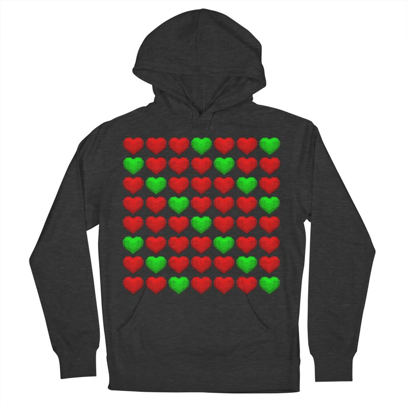 Lowpoly Christmasy Hearts Men's Pullover Hoody by Me&My3D