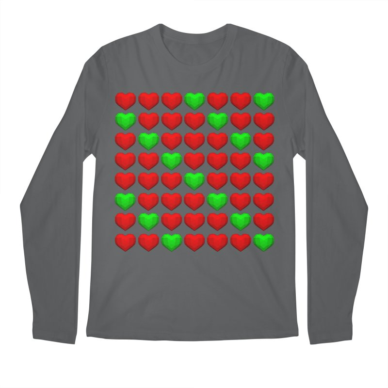 Lowpoly Christmasy Hearts Men's Longsleeve T-Shirt by Me&My3D