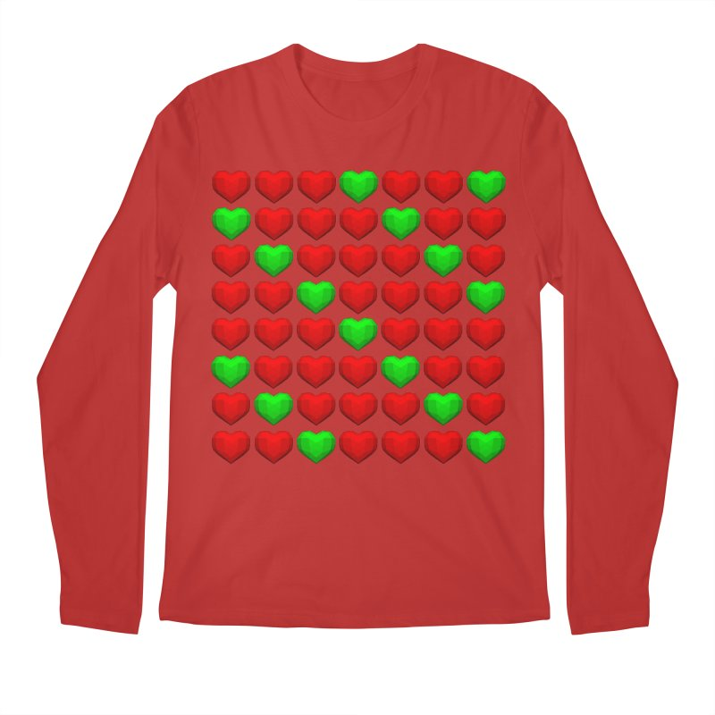 Lowpoly Christmasy Hearts Men's Regular Longsleeve T-Shirt by Me&My3D
