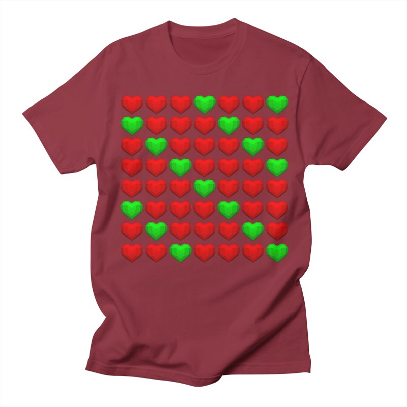 Lowpoly Christmasy Hearts Women's Regular Unisex T-Shirt by Me&My3D