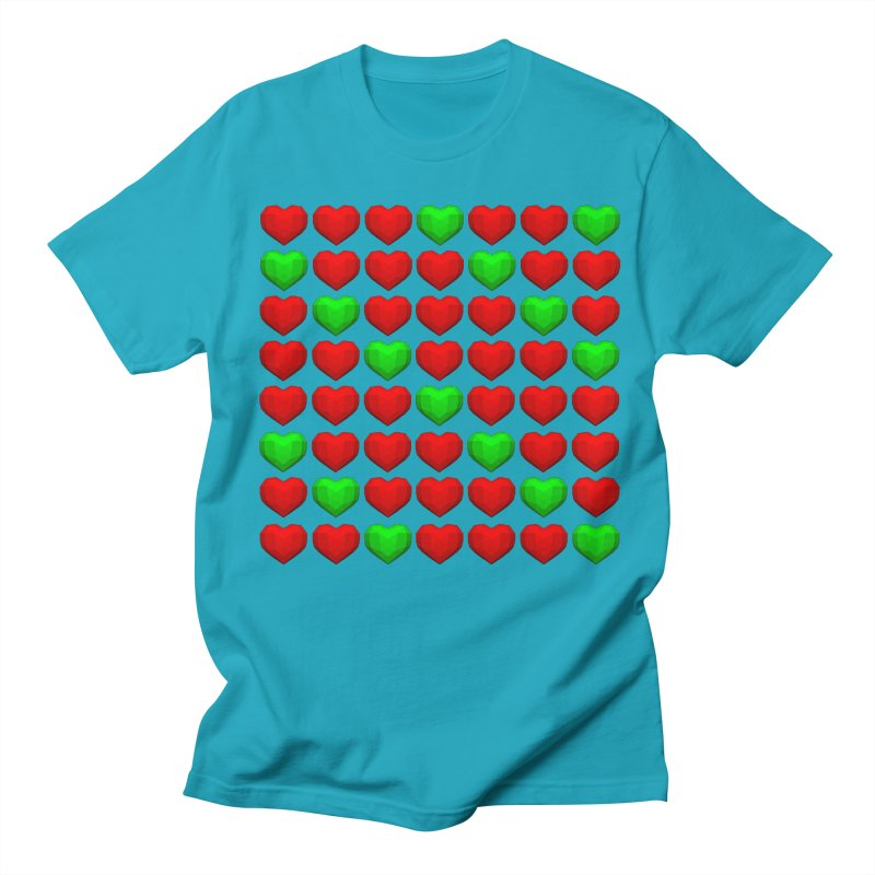 Lowpoly Christmasy Hearts Men's Regular T-Shirt by Me&My3D
