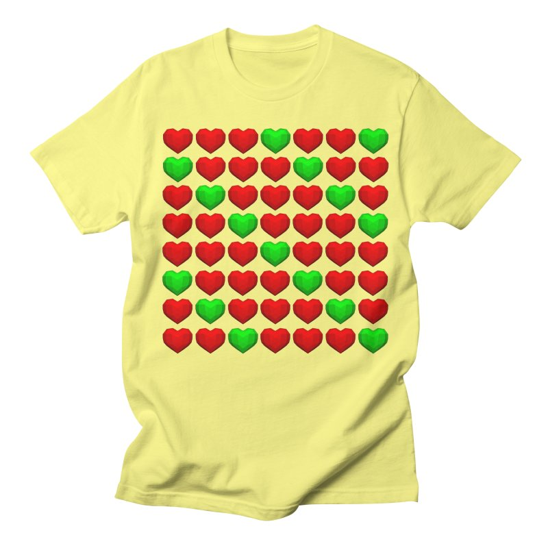 Lowpoly Christmasy Hearts Women's Unisex T-Shirt by Me&My3D