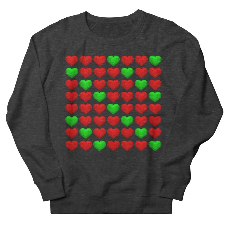 Lowpoly Christmasy Hearts Women's Sweatshirt by Me&My3D