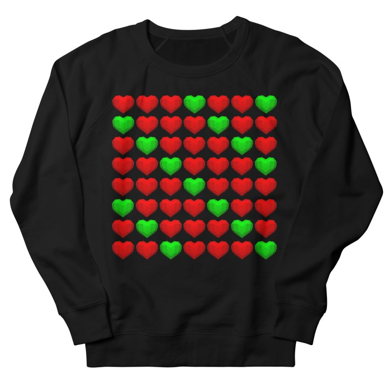 Lowpoly Christmasy Hearts Women's French Terry Sweatshirt by Me&My3D