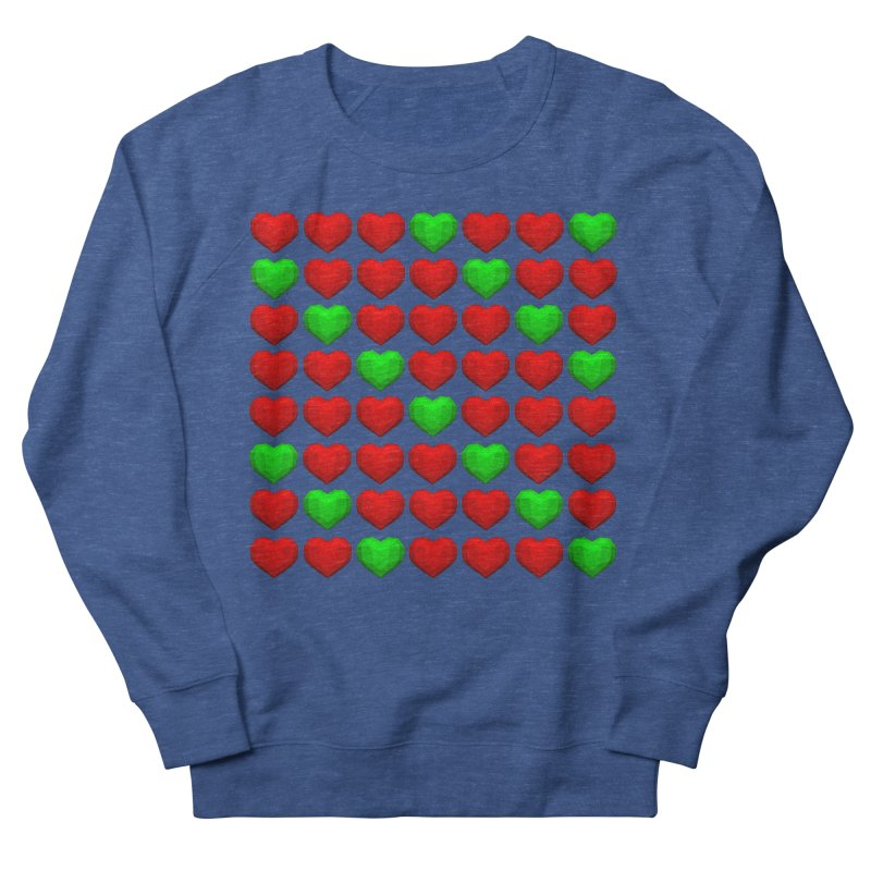 Lowpoly Christmasy Hearts Men's Sweatshirt by Me&My3D