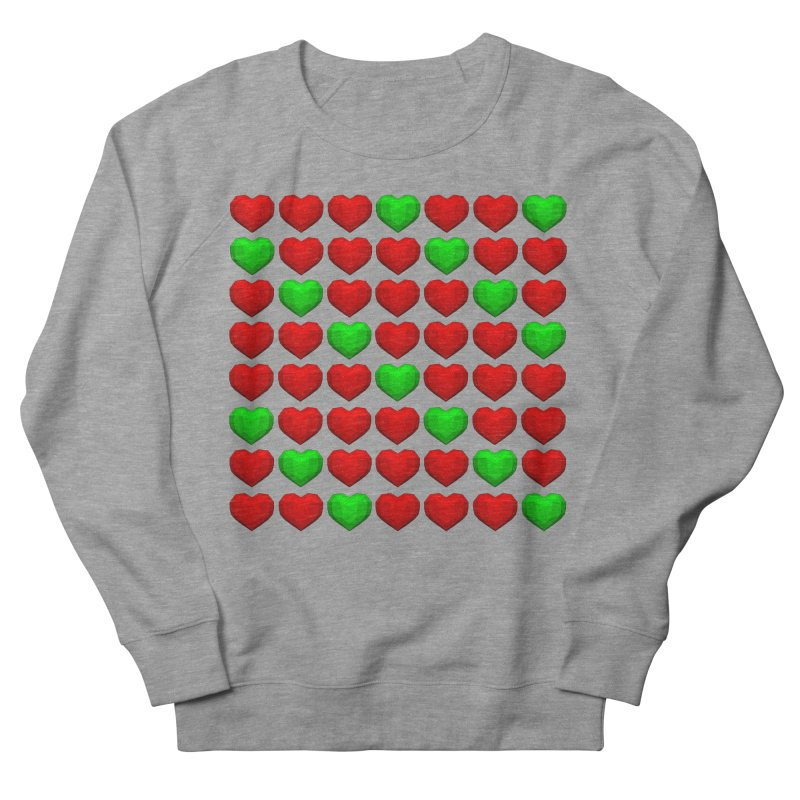 Lowpoly Christmasy Hearts Men's French Terry Sweatshirt by Me&My3D