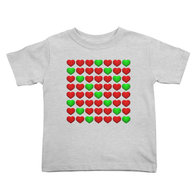 Lowpoly Christmasy Hearts Kids Toddler T-Shirt by Me&My3D
