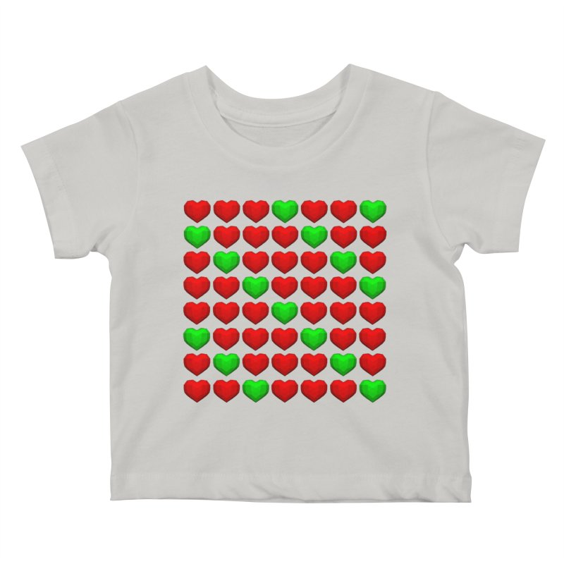 Lowpoly Christmasy Hearts Kids Baby T-Shirt by Me&My3D