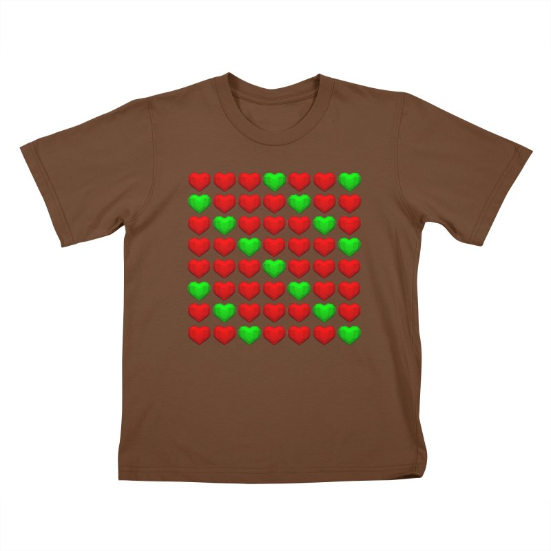 Lowpoly Christmasy Hearts Kids T-Shirt by Me&My3D