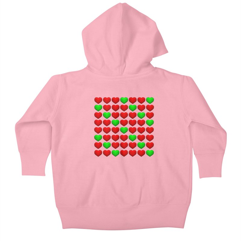 Lowpoly Christmasy Hearts Kids Baby Zip-Up Hoody by Me&My3D