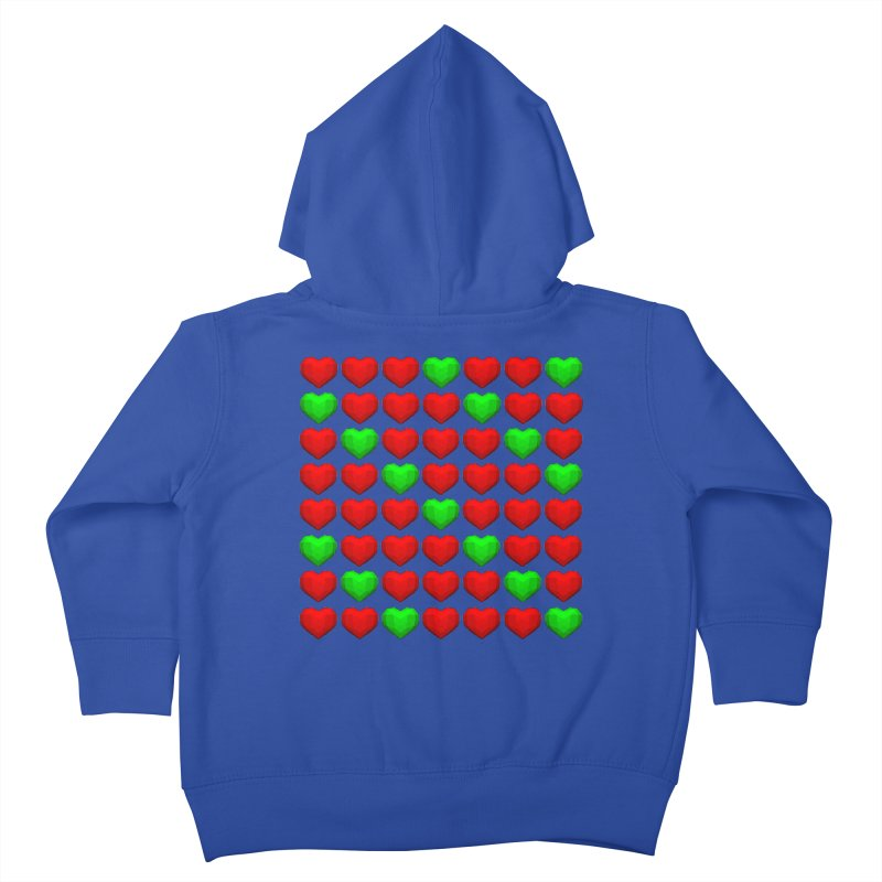 Lowpoly Christmasy Hearts Kids Toddler Zip-Up Hoody by Me&My3D