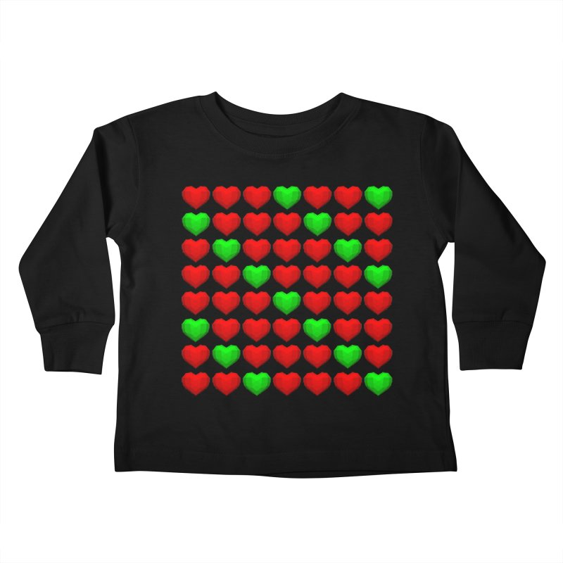 Lowpoly Christmasy Hearts Kids Toddler Longsleeve T-Shirt by Me&My3D