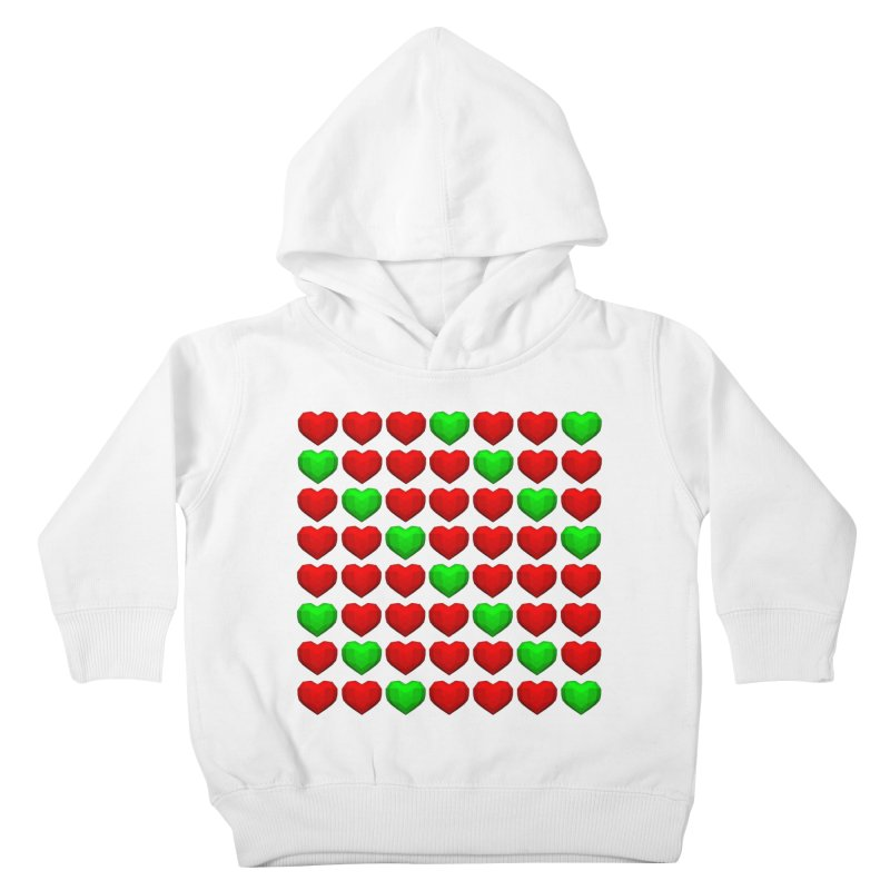 Lowpoly Christmasy Hearts Kids Toddler Pullover Hoody by Me&My3D