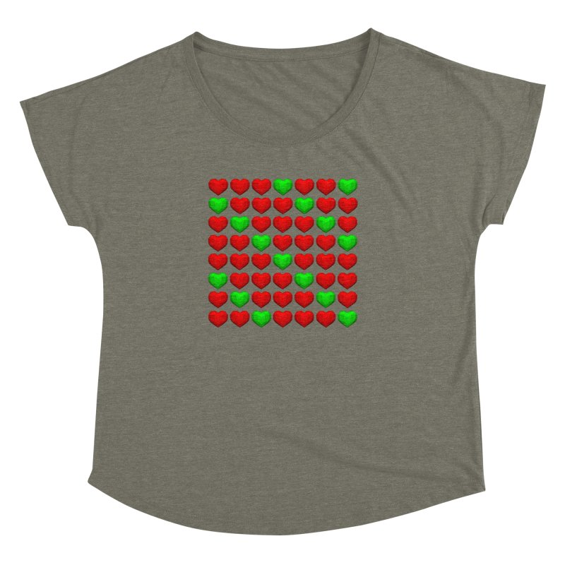 Lowpoly Christmasy Hearts Women's Dolman by Me&My3D