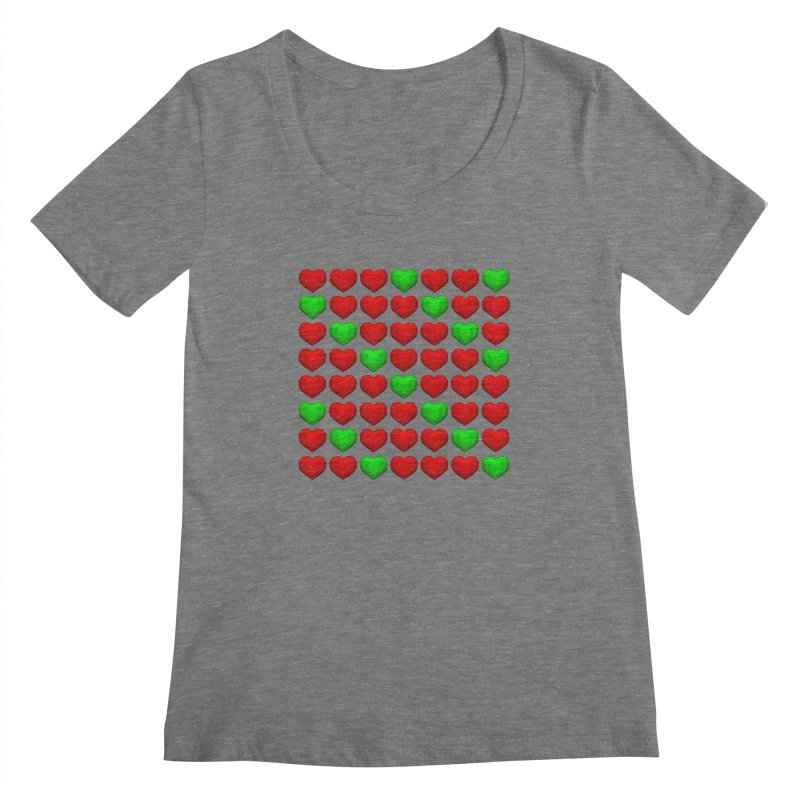 Lowpoly Christmasy Hearts Women's Scoopneck by Me&My3D