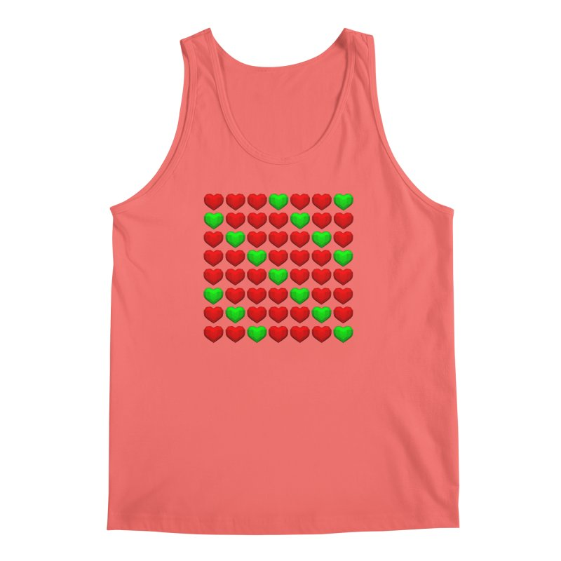 Lowpoly Christmasy Hearts Men's Tank by Me&My3D