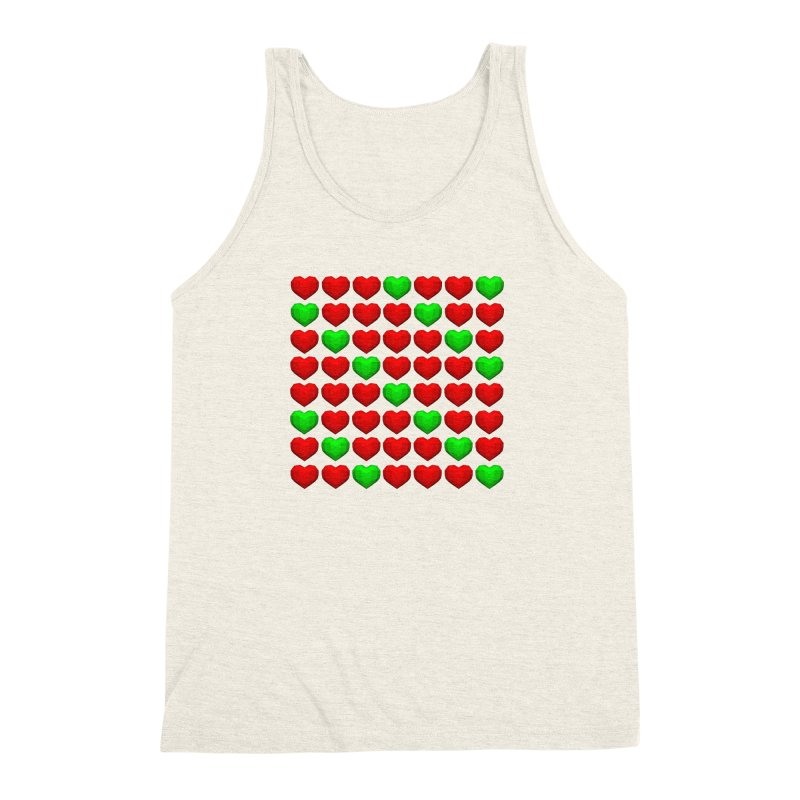 Lowpoly Christmasy Hearts Men's Triblend Tank by Me&My3D