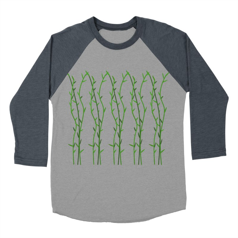 Bamboo Pattern Men's Baseball Triblend Longsleeve T-Shirt by Me&My3D