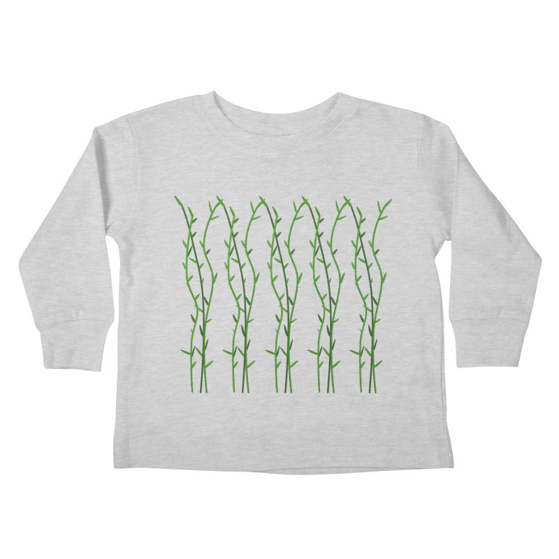 Bamboo Pattern Kids Toddler Longsleeve T-Shirt by Me&My3D