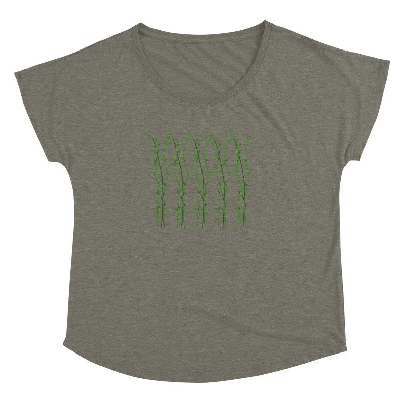 Bamboo Pattern Women's Dolman Scoop Neck by Me&My3D